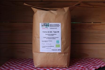 Farine blé ancien T80 - 2 Kg