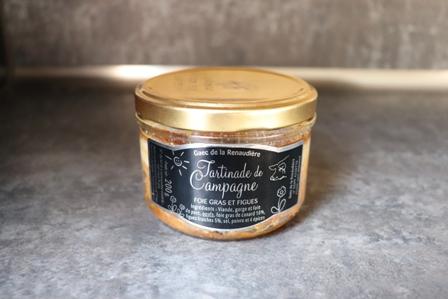 Tartinade de campagne aromatisé foie gras et figues