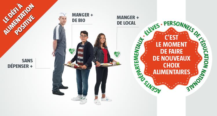 Le Défi Collèges à alimentation positive, édition 2019/2020