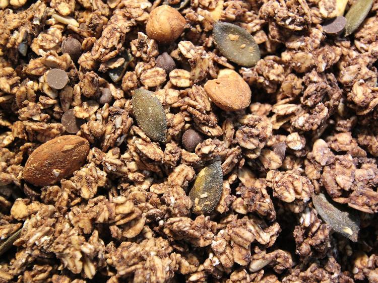 Muesli Granola au chocolat (pépites et cacao)