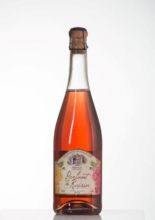 Jus de raisin rosé pétillant