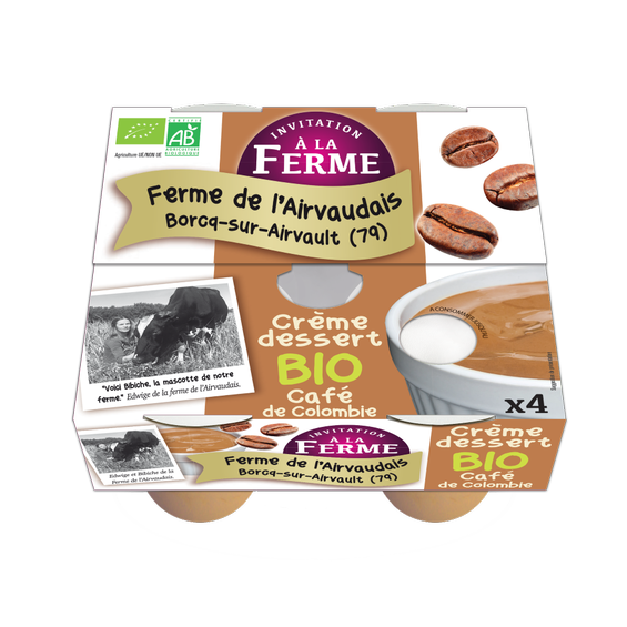 Crème dessert au Café de Colombie 4x100g