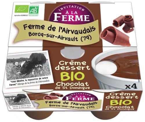 Crème dessert Chocolat St Domingue 4x100g