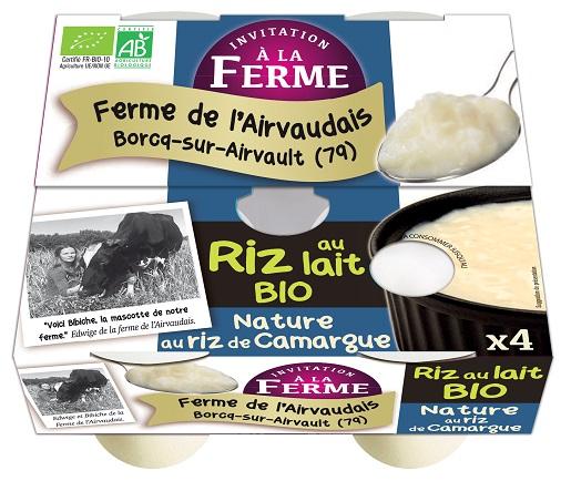 Riz au lait bio nature 4x125g