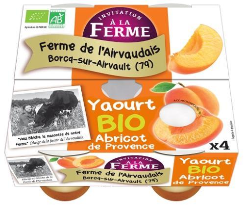 Yaourt à l'Abricot de la Drôme 4x125g