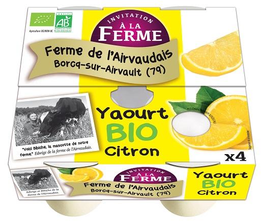 Yaourt au Citron Fermier 4x125g