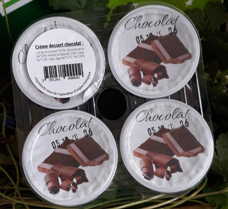 Crème dessert Bio chocolat  - 4x125g