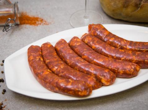 Chorizo à cuire en boyau à saucisse ( poche de 500gr) - Ferme des fontenelles