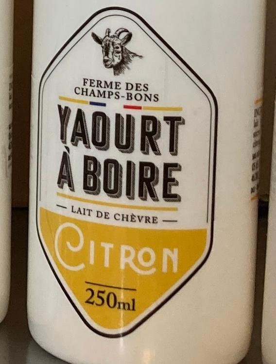 Yaourt à boire - citron - lait de chèvre - 1L