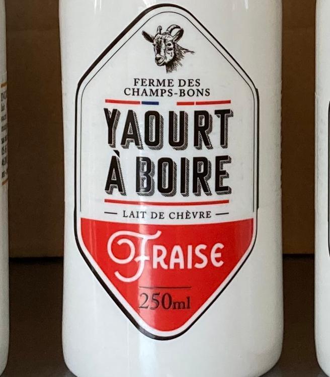 Yaourt à boire - fraise - lait de chèvre - 250 ml