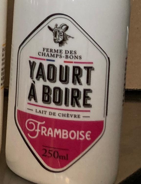 Yaourt à boire - framboise - lait de chèvre - 250 ml