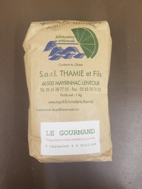 """Farine """"Gourmand"""" 8 céréales et 4 graine sur base de blé"""