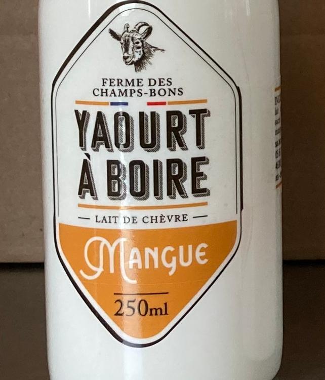 Yaourt à boire - mangue - lait de chèvre - 250 ml