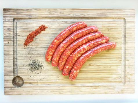 Merguez de porc - ( poche de 6 ~360GR )- Ferme des fontenelles