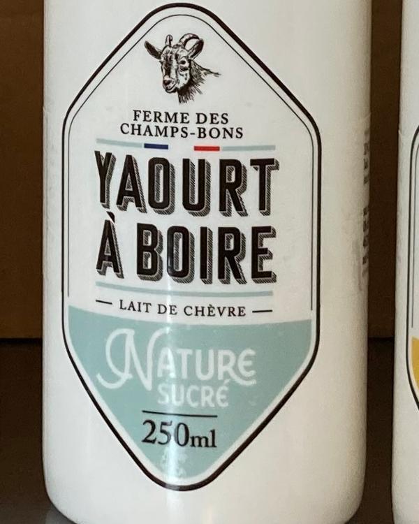 Yaourt à boire - Nature - lait de chèvre - 250ml