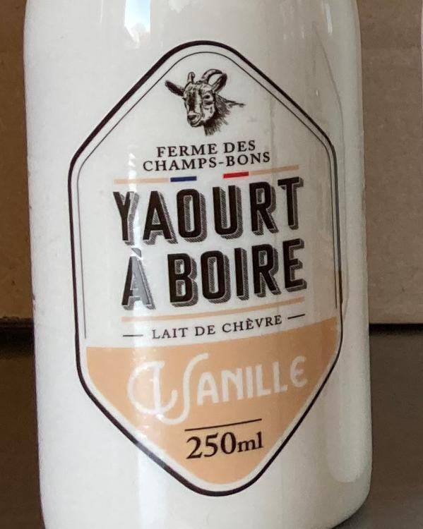 Yaourt à boire - vanille - lait de chèvre - 1L