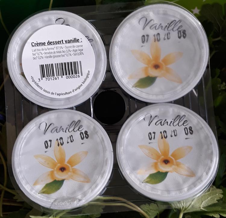 Crème dessert Bio vanille -  4x125g