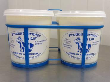 Yaourts nature au lait de vache par 4 - GAEC de Lagarouste