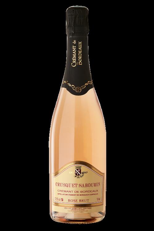 Crémant Crusquet Sabourin Rosé - AOC Crémant de Bordeaux