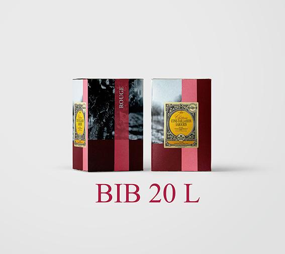 BIB 20 L Cht Cone Taillasson Sabourin 2018 (Etiquettes et Bouchons inclus) - AOC Blaye Côtes de Bordeaux