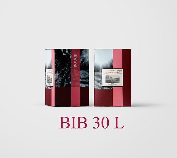 BIB 30 L Cht Crusquet Sabourin 2018 (Etiquettes et Bouchons inclus) - AOC Blaye Côtes de Bordeaux