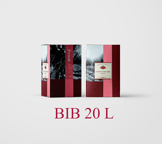 BIB 20 L Cht L'Escadre 2018 (Etiquettes et Bouchons inclus) - AOC Blaye Côtes de Bordeaux