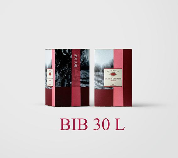 BIB 30 L Cht L'Escadre 2018 (Etiquettes et Bouchons inclus) - AOC Blaye Côtes de Bordeaux