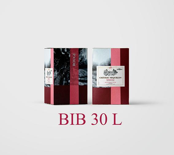 BIB 30 L Cht Miquelon 2018 (Etiquettes et Bouchons inclus) - AOC Bordeaux