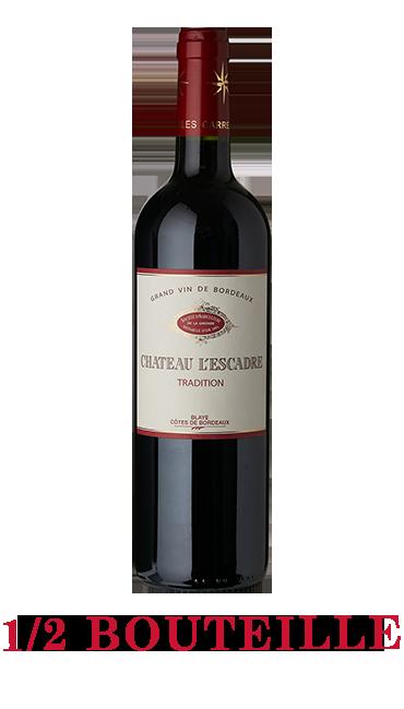 1/2 Bouteille Château L'Escadre 2018 - AOC Blaye Côtes de Bordeaux