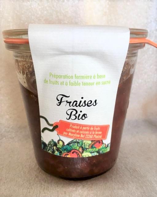 Fraise (Préparation fermière à base de fruits et à faible teneur en sucre)