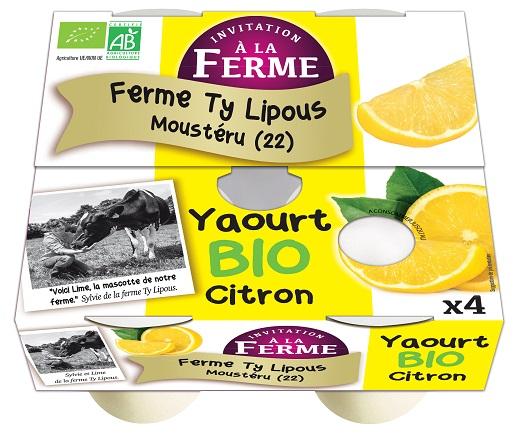 Yaourt Citron Bio 4x125g