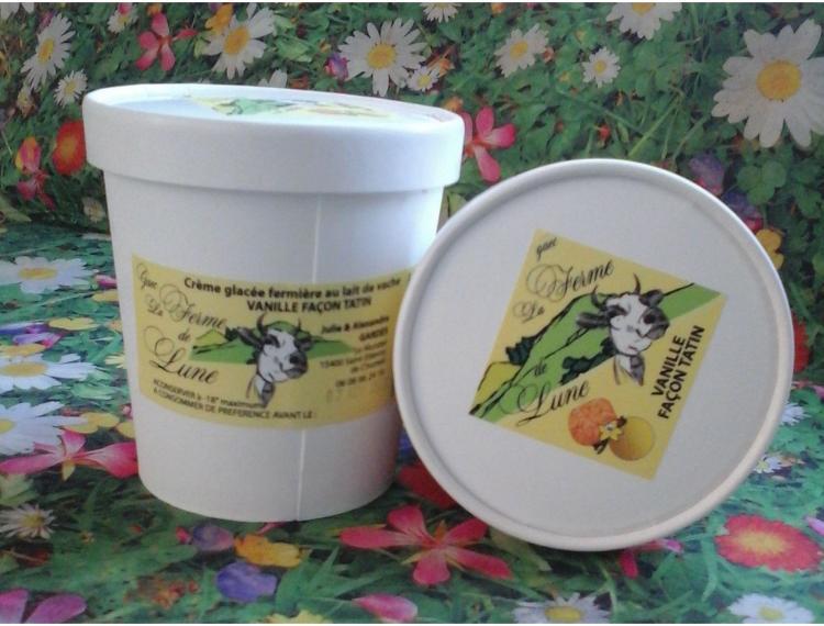 Crème glacée fermière VANILLE TATIN 480ml