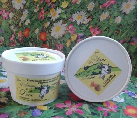 Crème glacée fermière CARAMEL beurre salé 200ml
