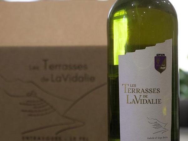 BLANC  Les Terrasses de LaVidalie (carton de 6 bouteilles de 75 cl)