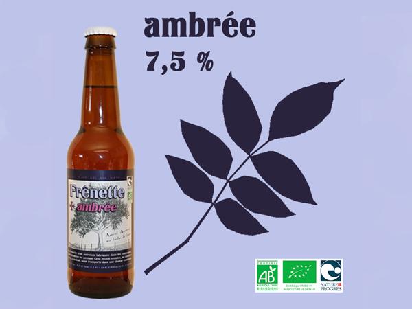 Frênette Ambrée - Alcool 7,5 % - 33 cl
