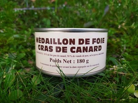 Médaillon de foie gras de canard