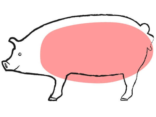 1/2 Cochon Charcuté RISPAL