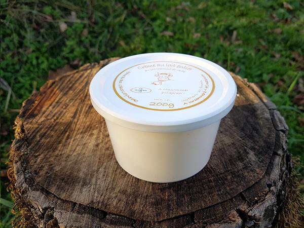Crème au lait entier - Ferme du Bos