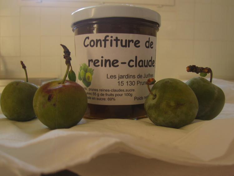 Confiture de prunes reine claude