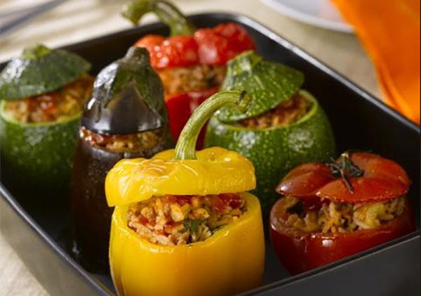 Légumes farcis au simmental