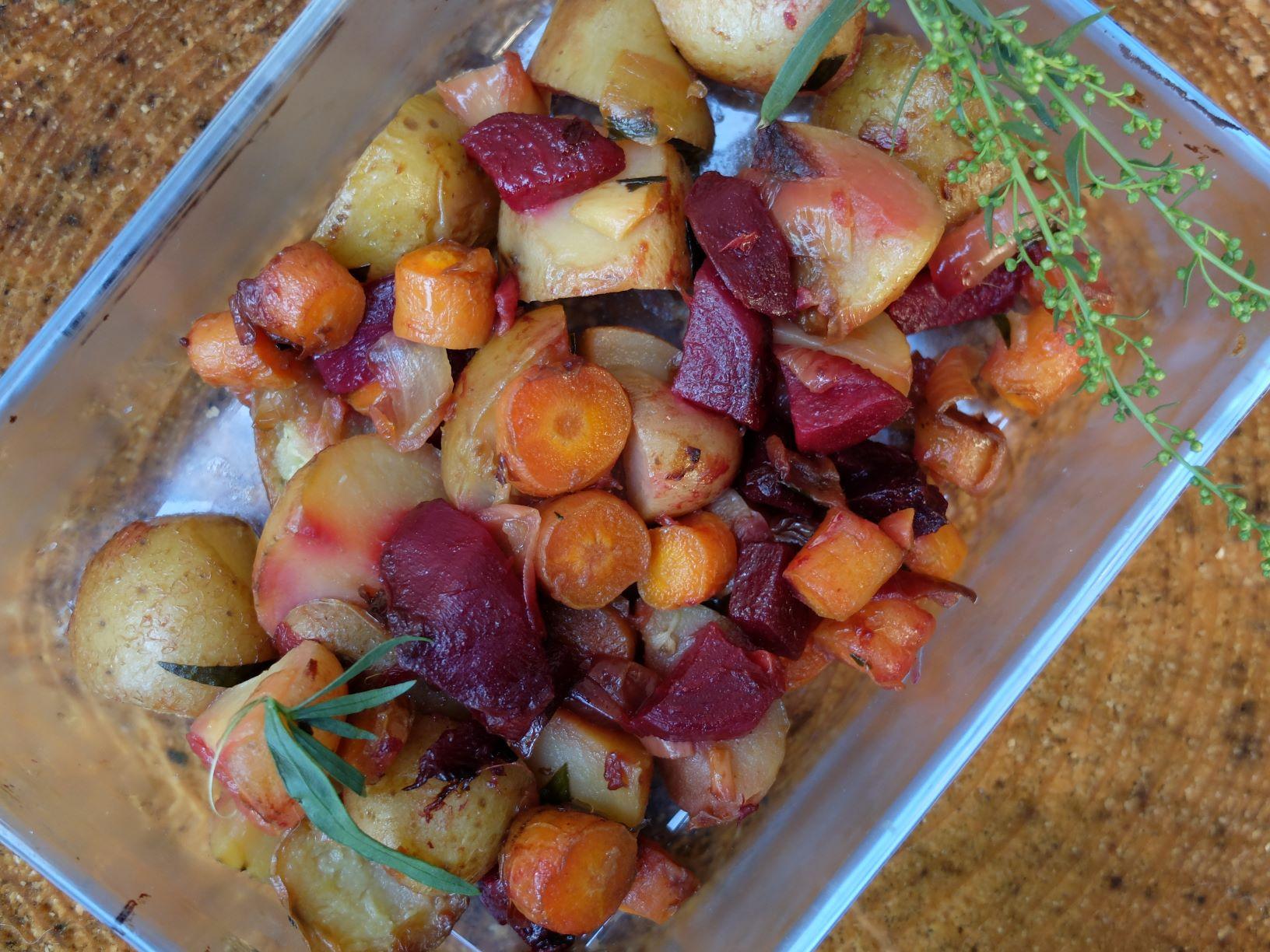 Poêlée de légumes de saison à l'estragon