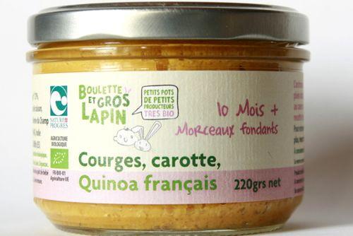Courges, carottes, quinoa - dès 10 mois