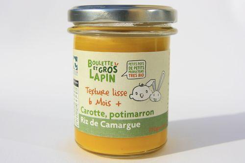 Carotte, potimarron, riz de Camargue (végétarien) - dès 6 mois