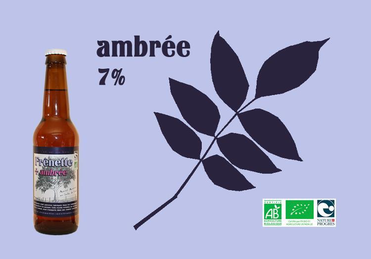 Frênette Ambrée - Alcool 7 % - 33 cl