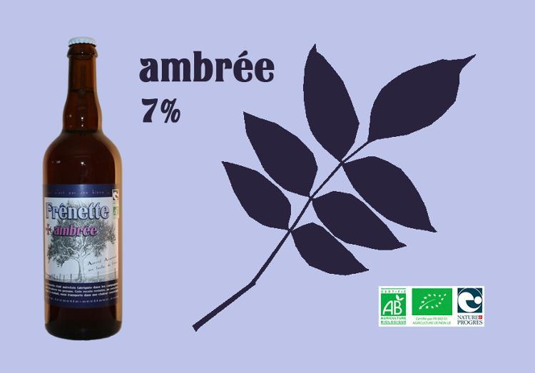 Frênette Ambrée - Alcool 7 % - 75 cl