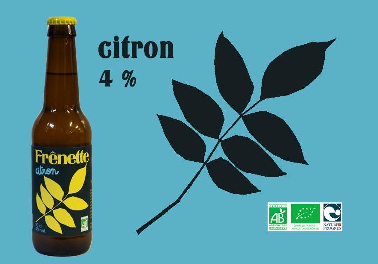 Frênette Citron touche de Thym 33 cl (4% alcool)