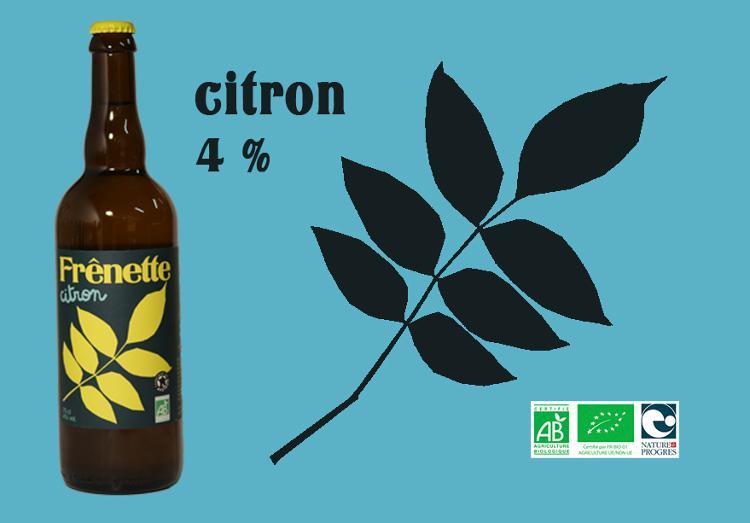 Frênette Citron touche de thym 75 cl (4% alcool)