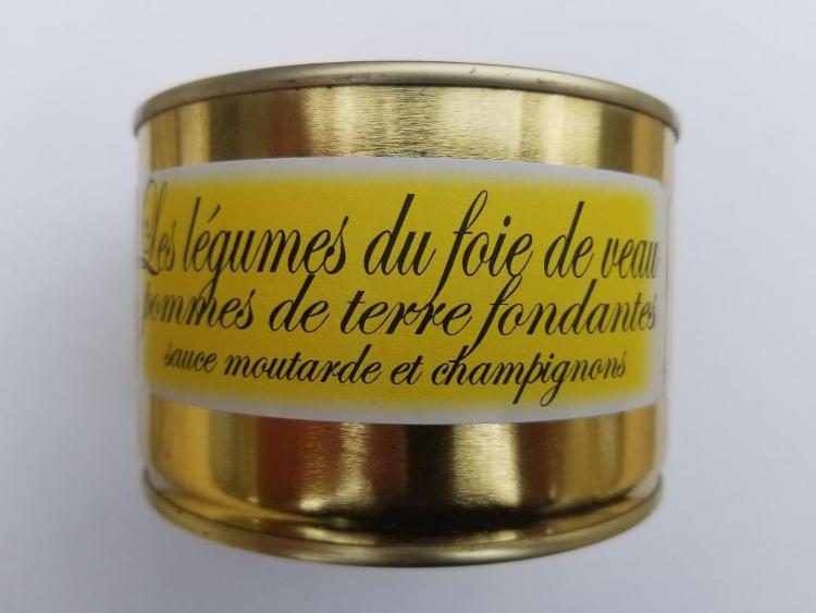 Les légumes Bio du Foie de veau, pommes de terre fondantes, sauce moutarde et champignons