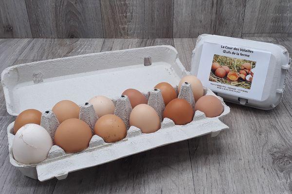 Oeufs de jeunes poules - par 12