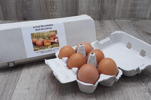 Oeufs de jeunes poules - par 6